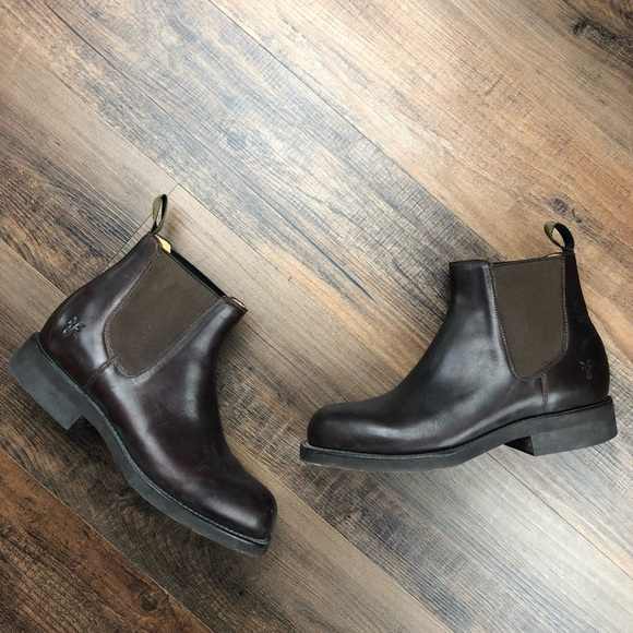 beabe0820ed Frye Men's Brown Weston Lug Leather Chelsea Boots